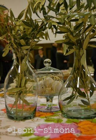 Centrotavola-vasi-vetro-ulivo