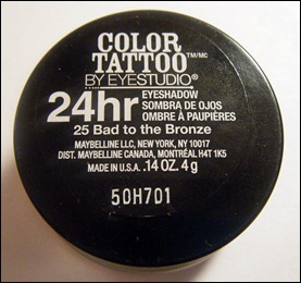Maybelline Bad to the Bronze Color Tattoo Eyeshadow