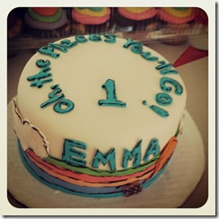 Her awesome cake!