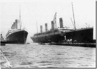 el Olimpic y el Titanic