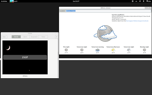 Gnome Weather 0.1