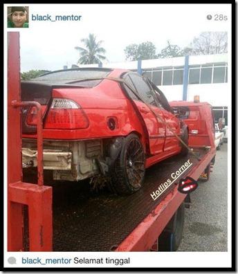 Black Mentor Kemalangan, Kereta Total Lost-1