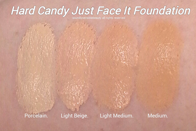 Hard Candy Just Face It Foundation; Review & Swatches of New Shades
