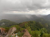 The view from Bukit Jempol (Bukit Serelo) as the storm clouds begin to roll in from the west (Dan Quinn, November 2013)