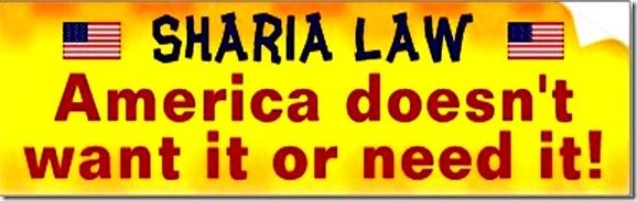 No Sharia for USA