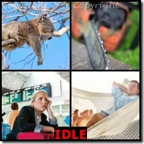 IDLE- 4 Pics 1 Word Answers 3 Letters