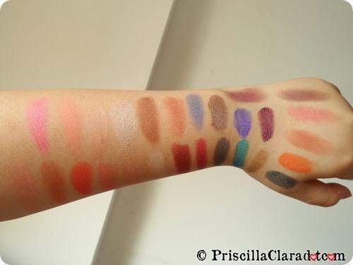 Priscilla swatch eyeshadow cream