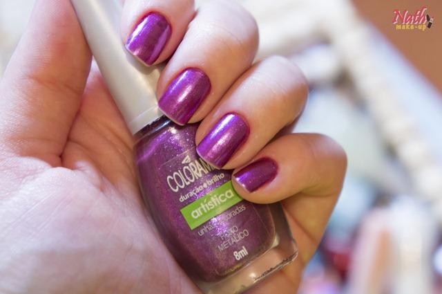esmalte roxo metálico colorama