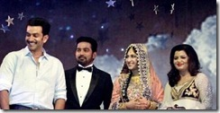Asif ali marriage reception pics