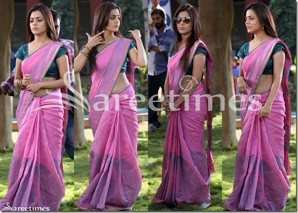 Nisha_Agarwal_Pink_Cotton_Saree