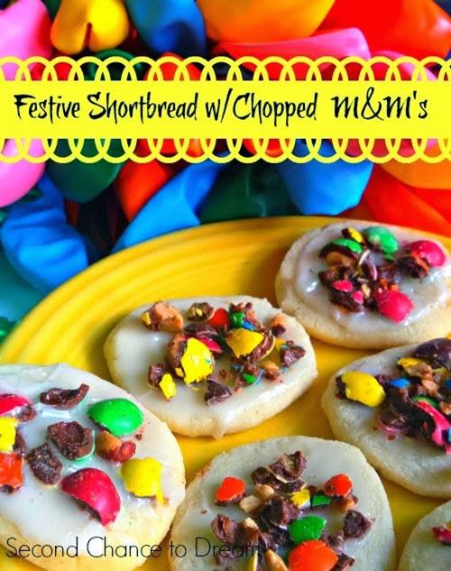 Festive Baked Shortbread wChopped M&M's #shop