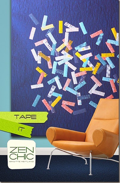 Cover Tape modern quilt pattern Zen Chic