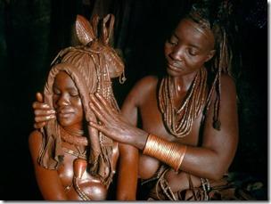 Himba cocar de couro de casamento
