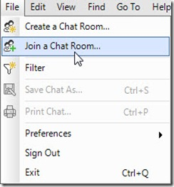 Lync GC Fed - join menu