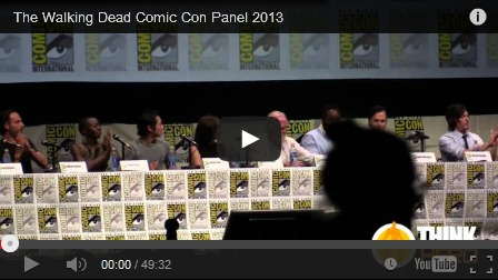 walking dead full comic con panel, sdcc 2013