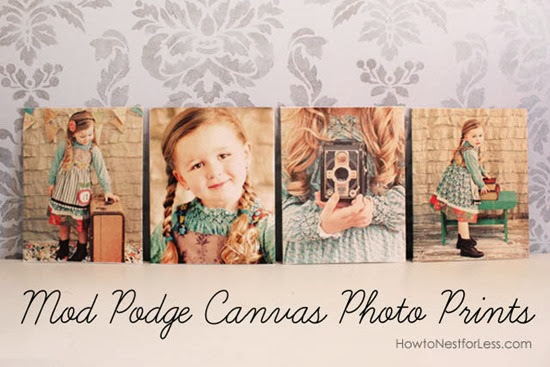 Mod Podge Canvas Prints Tutorial by How to Nest for Less