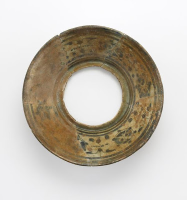 Bowl | Origin:  Syria | Period: 12th-13th century | Details:  Not Available | Type: Stone-paste; painted under glaze | Size: H: 8.2  W: 19.3  cm | Museum Code: F1904.293 | Photograph and description taken from Freer and the Sackler (Smithsonian) Museums.