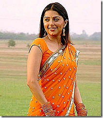 bhumika-in-orenge-saree