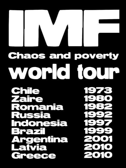 CC Photo by Flickr User teacherdudebbq2 Subject is IMF Chaos & Poverty