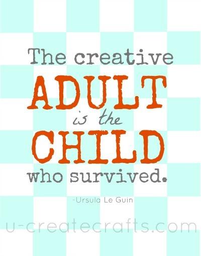 Creative Adult Quote Aqua