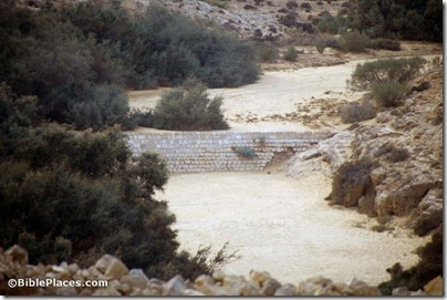 Mampsis Nabatean dam in Nahal Mampsis, tbs72039211