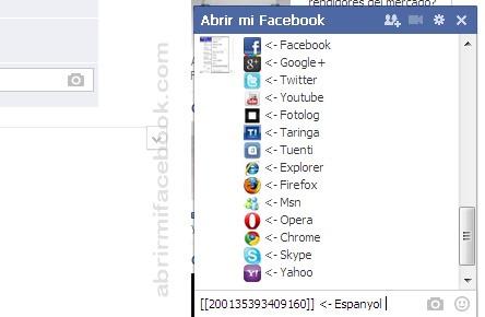 Emoticonos de redes sociales en Facebook
