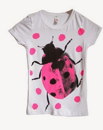 Inspiração: joaninha - camiseta