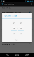 Screenshot of WiFi Automatic (WiFi Auto-Off)