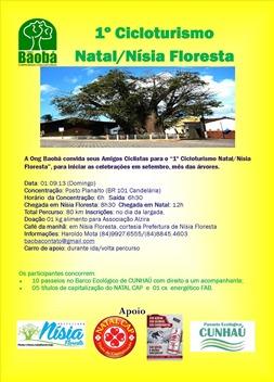 Folder convite Cicloturismo Nisia Floresta