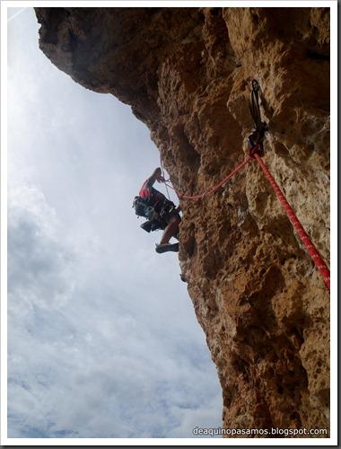 Via Costa Blanca 250m 6c  (6b A0 Oblig) (Peon de Ifach, Alicante) (Isra) 2474