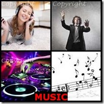 MUSIC- 4 Pics 1 Word Answers 3 Letters
