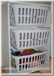 DIY laundry basket dressers