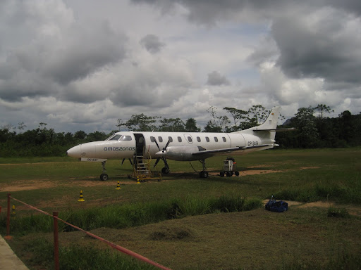 Our plane, safely on the ground at the Rurrenabaque airport.