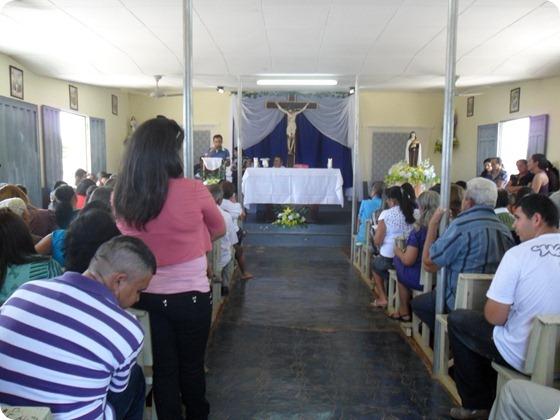 Missa realizada no Povoado Muquen