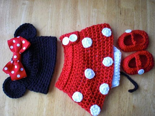 Free Crochet Pattern For Baby Minnie Mouse Outfit : Inspiracao: Minnie Mouse Customizando - Blog de ...