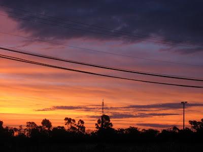 typical Brazilian sunset