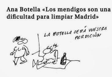 Ana Botella y mendigos
