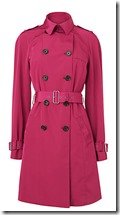 LK Bennett Red Trench Coat
