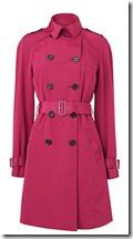 LK Bennett Red Trench Coat