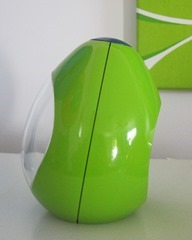 green and blue egg shaped Blessing alarm clock