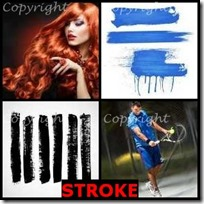 STROKE- 4 Pics 1 Word Answers 3 Letters