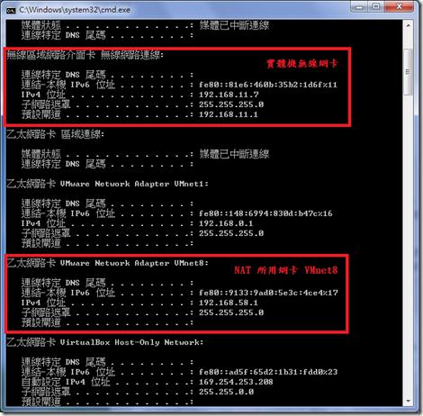 VMware-Ubuntu VMnet8