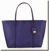 Dolce & Gabbana Blue Perforated Escape Bag