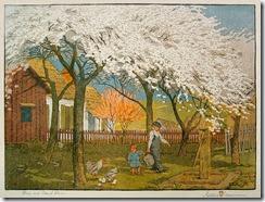 Plum-and-Peach-Bloom-by-Gustave-Baumann