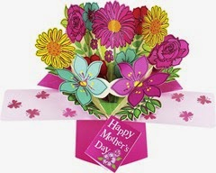 Second Nature Mother's Day Flowers Design Pop Up Card
