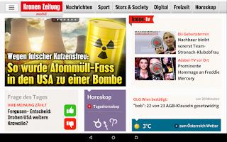 Screenshot of Krone.at