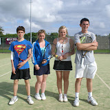 Conor Caheny &amp; Sophie Murray (winners) and Maeve Butler &amp; Philip King (runners-up) Mixed Doubles U18