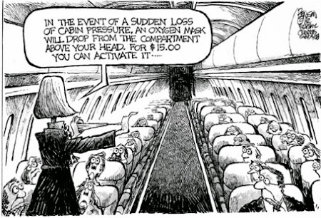 Caricatura - low cost airline