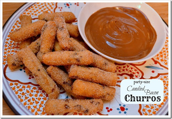 New Year's Eve Desserts - candied bacon churros