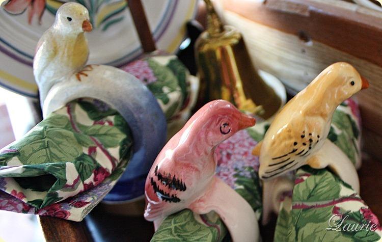 bird napkin rngs